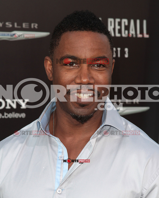 HOLLYWOOD, CA - AUGUST 01: Michael Jai White at the premiere of Columbia Pictures' 'Total Recall' held at Grauman's Chinese Theatre on August 1, 2012 in Hollywood, California Credit: mpi21/MediaPunch Inc. /NortePhoto.com<br />