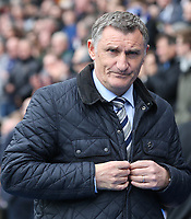 Blackburn Rovers manager Tony Mowbray <br /> <br /> Photographer Stephen White/CameraSport<br /> <br /> The EFL Sky Bet Championship - Blackburn Rovers v Bristol City - Monday 17th April 2017 - Ewood Park - Blackburn<br /> <br /> World Copyright &copy; 2017 CameraSport. All rights reserved. 43 Linden Ave. Countesthorpe. Leicester. England. LE8 5PG - Tel: +44 (0) 116 277 4147 - admin@camerasport.com - www.camerasport.com