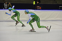 SCHAATSEN: HEERENVEEN: 16-01-2016 IJsstadion Thialf, Trainingswedstrijd Topsport, Annette Gerritsen, Anice Das, ©foto Martin de Jong