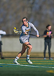 30 March 2016: University of Vermont Catamount Defender Micaela O'Mara, a Freshman from Queensbury, NY, in second half action against the Manhattan College Jaspers at Virtue Field in Burlington, Vermont. The Lady Cats defeated the Jaspers 11-5 in non-conference play. Mandatory Credit: Ed Wolfstein Photo *** RAW (NEF) Image File Available ***