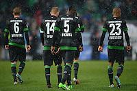 Fussball 1. Bundesliga :  Saison   2012/2013   9. Spieltag  27.10.2012 SpVgg Greuther Fuerth - SV Werder Bremen Kevin De Bruyne, Aaron Hunt , Assani Lukimya, Theodor Gebre Selassie (v. li., SV Werder Bremen)