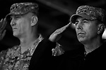 Iraq forces commander General David Petraeus and his immediate subordinate Lt. General ? Odierno attend a change of command ceremony for rotating Polish units in ad-Diwaniyah, a majority Shiia city in southern Iraq. The incoming Polish unit will be the last Polish force to serve in Iraq after Warsaw announced plans to withdraw its troops in the fall. The Polish have third largest national contingent serving in Iraq after the US and Great Britain.
