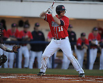 Ole Miss's Matt Smith bats vs. Louisiana-Monroe at Oxford-University Stadium in Oxford, Miss. on Friday, February 19, 2010.