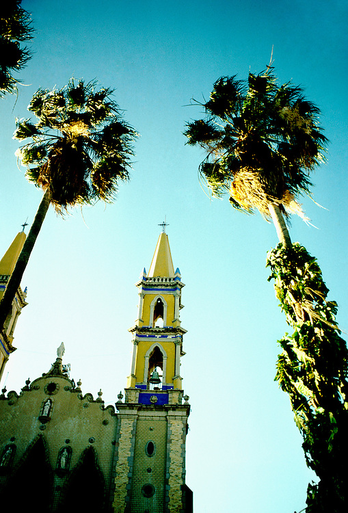 Mexico: Mazatlan..Church. .Photo copyright Lee Foster,www.fostertravel.com. .Photo #: mxmaza103, 510/549-2202, lee@fostertravel.com
