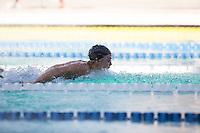 Santa Clara, California - Friday June 3, 2016: Leah Goldman races the 100 LC Meter Butterfly.