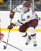 Brian Dumoulin (BC - 2) - The Boston College Eagles defeated the Boston University Terriers 3-2 (OT) in their Beanpot opener on Monday, February 7, 2011, at TD Garden in Boston, Massachusetts.