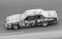 Tim Richmond 27 action Firecracker 400 at Daytona International Speedway in Daytona Beach, FL on July 4, 1983. (Photo by Brian Cleary/www.bcpix.com)