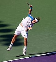 David FERRER (ESP) against Rafael NADAL (ESP) in the fourth round of the men's singles. Rafael Nadal beat David Ferrer 7-6 6-4..International Tennis - 2010 ATP World Tour - Sony Ericsson Open - Crandon Park Tennis Center - Key Biscayne - Miami - Florida - USA - Tue 30th Mar 2010..© Frey - Amn Images, Level 1, Barry House, 20-22 Worple Road, London, SW19 4DH, UK .Tel - +44 20 8947 0100.Fax -+44 20 8947 0117