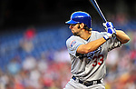 23 April 2010: Los Angeles Dodgers' infielder Blake DeWitt in action against the Washington Nationals at Nationals Park in Washington, DC. The Nationals defeated the Dodgers 5-1 in the first game of their 3-game series. Mandatory Credit: Ed Wolfstein Photo