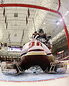 - The Boston College Eagles and the visiting University of New Hampshire Wildcats played to a scoreless tie in BC's senior game on Saturday, February 19, 2011, at Conte Forum in Chestnut Hill, Massachusetts.