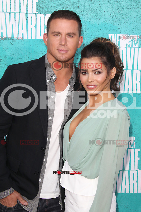 Channing Tatum and Jenna Dewan-Tatum at the 2012 MTV Movie Awards held at Gibson Amphitheatre on June 3, 2012 in Universal City, California. © mpi29/MediaPunch Inc.