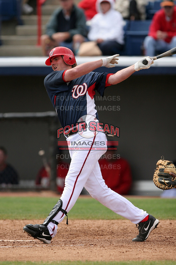 Washington Nationals Josh Wilson during a Grapefruit League Spring Training game at Spacecoast Stadium on March 19, 2007 in Melbourne, Florida.  (Mike Janes/Four Seam Images)