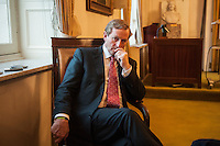 Irish Prime Minister of Enda Kenny  during interview in Brussels, Belgium on 13.12.2012 by Wiktor Dabkowski
