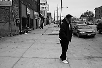 Chicago, Illinois, Nov 2, 2008..Westside Chicago is one of the poorest and most violent part of the city:drugs, alcool, traffics of all kinds show up everywhere..Marian,55, is an alcoolic, with little of no hope for a better life.