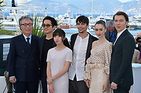 Byung Heebong, Steven Yeun, Ahn Seo-Hyun, Devon Bostick, Lily Collins &amp; Paul Dano at the photocall for &quot;Okja&quot; at the 70th Festival de Cannes, Cannes, France. 19 May 2017<br /> Picture: Paul Smith/Featureflash/SilverHub 0208 004 5359 sales@silverhubmedia.com