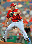 21 June 2008: Washington Nationals' starting pitcher Garrett Mock on the mound against the Texas Rangers at Nationals Park in Washington, DC. The Rangers defeated the Nationals 13-3 in the second game of their 3-game inter-league series...Mandatory Photo Credit: Ed Wolfstein Photo