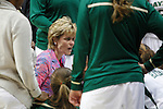 01 APR 2012:    Baylor University head coach Kim Mulkey coaches her team during a time out in the 2012 NCAA Division I Women's Basketball Semifinals held at Pepsi Center in Denver, CO.  Baylor defeated Stanford University 59-47 to move on to the championship game.  Trevor Brown, Jr./NCAA Photos