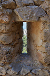 Window of Tower Lookout, St. Hilarion Castle