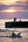 Sunset at the pier in Bayfield Ontario Canada