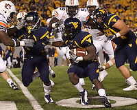 October 23, 2008: WVU running back Noel Devine. The West Virginia Mountaineers defeated the Auburn Tigers 34-17 on October 23, 2008 at Mountaineer Field, Morgantown, West Virginia.
