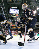Ryan Thang (Notre Dame - 9), Ian Cole (Notre Dame - 28) - The University of Notre Dame Fighting Irish defeated the Boston University Terriers 3-0 on Tuesday, October 20, 2009, at Agganis Arena in Boston, Massachusetts.