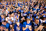 On this date back in 1940, the Blue Devils defeated Princeton, 36-2, marking the first game ever played in Cameron Indoor Stadium, then known as Duke Indoor Stadium. The game was played in front of 8,000 fans, the largest crowd in the South to witness at basketball game at that time.  During the most recent home game against visiting Boston College, Attendees were provided with birthday hats to celebrate the anniversary.<br /> <br /> Photo by Jon Gardiner/Duke Photography
