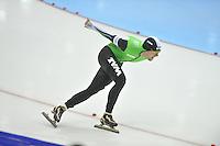 SCHAATSEN: HEERENVEEN: 26-12-2013, IJsstadion Thialf, KNSB Kwalificatie Toernooi (KKT), 5000m, Douwe de Vries, ©foto Martin de Jong
