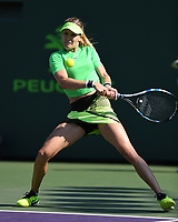 KEY BISCAYNE, FL - MARCH 22 : Eugenie Bouchard Vs Ashleigh Barty during the Miami Open at Crandon Park Tennis Center on March 22, 2017 in Key Biscayne, Florida. Credit: mpi04/MediaPunch