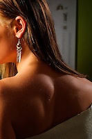 Young woman's healthy athletic back.<br />