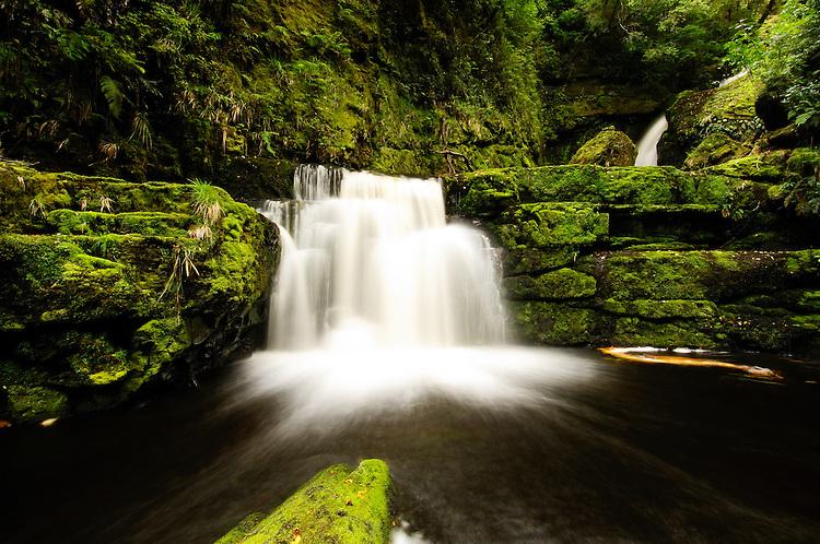 McLean Falls, Catlins, Otago,NZ - stock photo, canvas, fine art print
