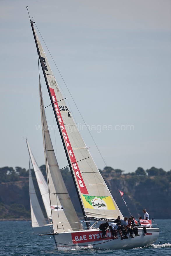 The BAE Tour de France a la Voile team..Credit: Lloyd Images