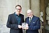 Sir Matthew Bourne <br /> in honoured by the Critics' Circle at a lunch on 28th April 2017 <br /> National Liberal Club, London, Great Britain <br /> <br /> Sir Matthew Bourne receives The Critics' Circle Award 2016 For Services to the Arts <br /> with Graham Watts Chairman of the Critics' Circle Dance category <br /> <br /> Photograph by Elliott Franks <br /> Image licensed to Elliott Franks Photography Services