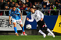 Kazuyoshi Miura (Yokohama FC), Makoto Nishino (Kataller), MARCH 6, 2011 - Football : 2011 J.League Division 2 match between Yokohama FC 1-2 Kataller Toyama at NHK Spring Mitsuzawa Football Stadium in Kanagawa, Japan. (Photo by AFLO)