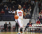 "Ole Miss' LaDarius White (10) vs. East Tennessee State at the C.M. ""Tad"" Smith Coliseum in Oxford, Miss. on Saturday, December 14, 2012. Mississippi won 77-55 to improve to 7-1. (AP Photo/Oxford Eagle, Bruce Newman).."
