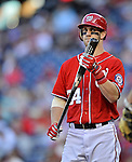 19 September 2012: Washington Nationals rookie outfielder Bryce Harper steps up to the plate during a game against the Los Angeles Dodgers at Nationals Park in Washington, DC. The Nationals defeated the Dodgers 3-1 in the first game of their double-header. Mandatory Credit: Ed Wolfstein Photo