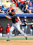 6 March 2011: Atlanta Braves' infielder Chipper Jones at bat during a Spring Training game against the Washington Nationals at Space Coast Stadium in Viera, Florida. The Braves shut out the Nationals 5-0 in Grapefruit League action. Mandatory Credit: Ed Wolfstein Photo
