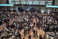 Interior of the New York Stock Exchange on Wall Street