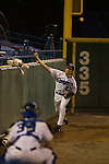 5/4/07 Omaha, NE  Pat Venditte Jr., an ambidextrous pitcher for Creighton University,warms up before a game Friday night against Southern Illinois University..(photo by Chris Machian/for Prairie Pixel Group).