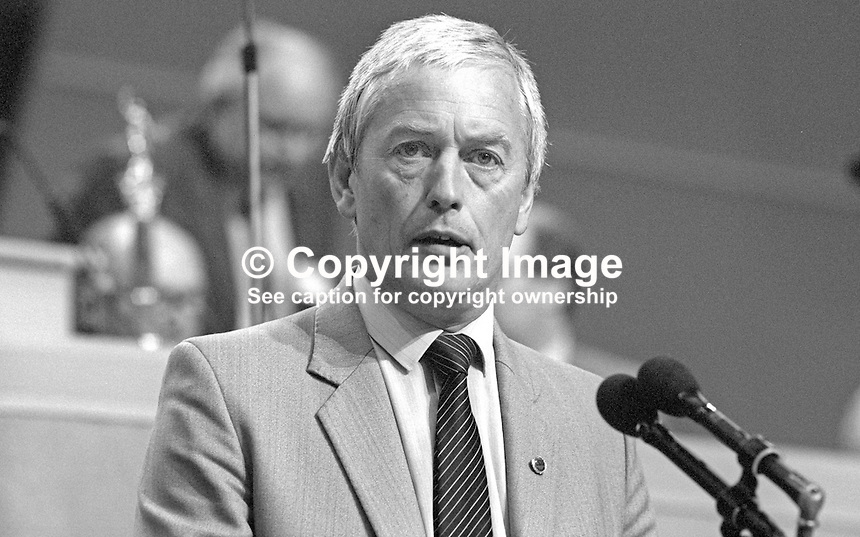 John Sheldon, general secretary, Civil Service Union, UK, at annual conference, TUC, Trades Union Congress. 19860908JS2<br /> <br /> Copyright Image from Victor Patterson, 54 Dorchester Park, Belfast, UK, BT9 6RJ<br /> <br /> t1: +44 28 9066 1296<br /> t2: +44 28 9002 2446<br /> m: +44 7802 353836<br /> <br /> e1: victorpatterson@me.com<br /> e2: victorpatterson@gmail.com<br /> <br /> www.victorpatterson.com<br /> <br /> IMPORTANT: Please see my Terms and Conditions of Use at www.victorpatterson.com