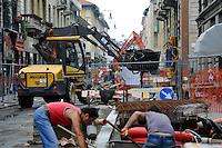 Lavori di pedonalizzazione a Chinatown