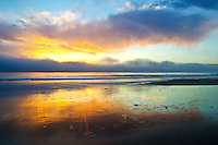 Santa Monica Beach amid the sunset on Friday, November 30, 2012.