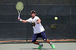 21 April 2016: Notre Dame's Kenneth Sabacinski. The University of Notre Dame Fighting Irish played the Duke University Blue Devils at the Cary Tennis Center in Cary, North Carolina in the first round of the Atlantic Coast Conference Men's Tennis Tournament. Notre Dame won the match 4-1.