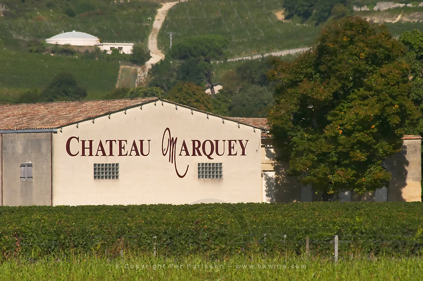 Winery building. Chateau Marquey. Saint Emilion, Bordeaux, France