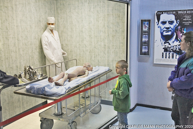 The Roswell UFO Museum contains displays from movie sets and other interpretations of the 1947 event.