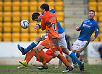 St Johnstone v Kilmarnock.....28.02.15<br /> A few inches separate Brian Graham and the ball as another chance is missed<br /> Picture by Graeme Hart.<br /> Copyright Perthshire Picture Agency<br /> Tel: 01738 623350  Mobile: 07990 594431