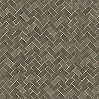 Herringbone 3 x 6 cm, a hand-cut stone mosaic, shown in honed in Montevideo.