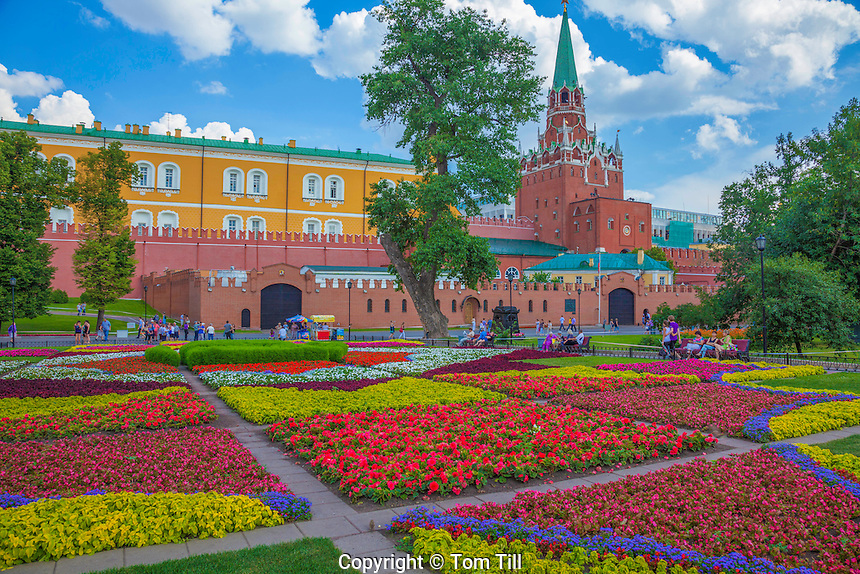 Gardens at the Kremlin, Moscow, Russian Federation