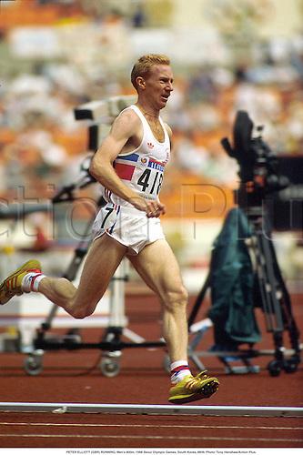 PETER ELLIOTT (GBR) RUNNING, Men's 800m, 1988 Seoul Olympic Games, South Korea, 8809. Photo: Tony Henshaw/Action Plus....athletics.distance.Olympics.1988.man.track and field.male