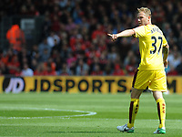 Burnley's Scott Arfield in action during todays match   <br /> <br /> Photographer Ian Cook/CameraSport<br /> <br /> The Premier League - Bournemouth v Burnley - Saturday 13th May 2017 - Vitality Stadium - Bournemouth<br /> <br /> World Copyright &copy; 2017 CameraSport. All rights reserved. 43 Linden Ave. Countesthorpe. Leicester. England. LE8 5PG - Tel: +44 (0) 116 277 4147 - admin@camerasport.com - www.camerasport.com