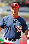 21 June 2010: Washington Nationals' Manager Jim Riggleman chats with the media prior to a game against the Kansas City Royals at Nationals Park in Washington, DC. The Nationals edged out the Royals 2-1 in the first game of their 3-game interleague series, snapping a 6-game losing streak. Mandatory Credit: Ed Wolfstein Photo
